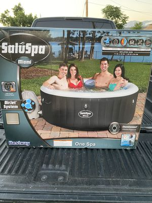 🏖 Bestway Miami Hot Tub Jacuzzi Spa above ground pool, 4-person, Black Coleman 🏖 FREE LOCAL DELIVERY WITHIN 45 MILES for Sale in Covina, CA
