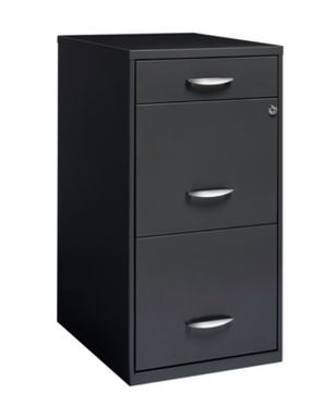New- Space Solutions 3 Drawer File Cabinet with Pencil Drawer, Charcoal for Sale in Puyallup, WA