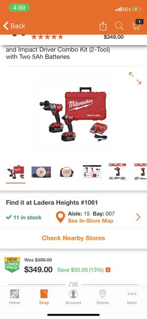 Milwaukee M18 drill and impact combo tool for Sale in Los Angeles, CA