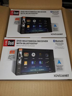 "NEW STEREO DVD MULTIMEDIA RECEIVER,MONITOR TOUCH SCREEN 6.2"",BLUETOOTH,MICROPHONE,AUX,USB,NAVIGATION APP BACKUP CAMARA ADAPTER for Sale in Kissimmee, FL"