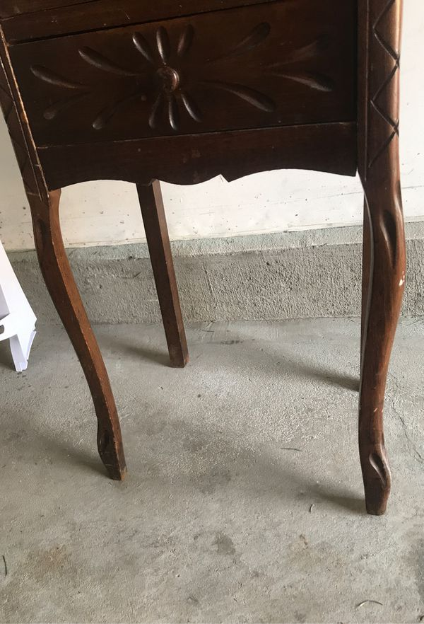 Free small side table with drawers