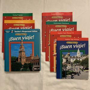 Glencoe BUEN VIAJE Level 1 Spanish Curriculum-Teacher Edition-7 Books-Homeschool for Sale in Federal Way, WA