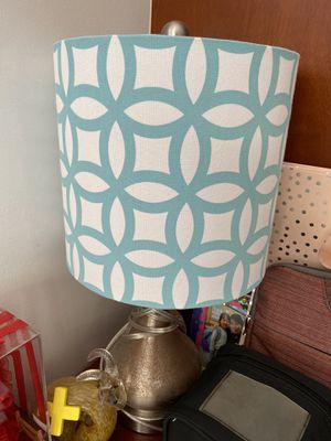 Turqoiuse and white lamp for Sale in Honolulu, HI