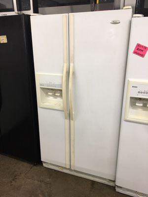 Guaranteed Refurbished White side-by-side refrigerator with water and ice dispenser for Sale in Knoxville, TN
