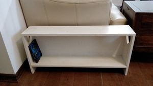 Small white solid wood bookshelf or DVD shelf for Sale in Seffner, FL