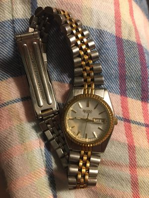 Seiko gold and silver watch for Sale in Starkville, MS