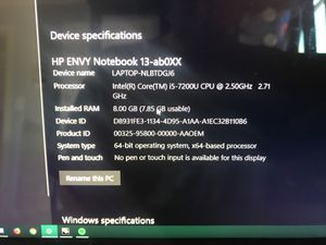 HP ENVY NOTEBOOK for Sale in San Leandro, CA