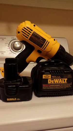Dewalt 12v drill charger battery for Sale in Tempe, AZ