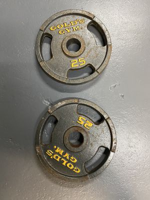 2 Gold's Gym Olympic Grip Weight Plates for Sale in Miami, FL
