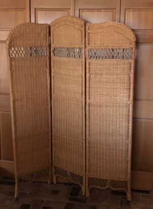 Wicker room divider-2avaiable for Sale in Denair, CA
