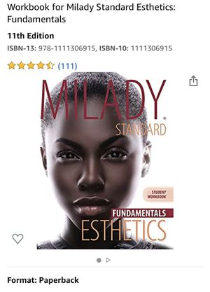 Milady Standards Esthetics- 11th edition for Sale in March Air Reserve Base, CA