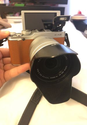Fujifilm X-A2 Mirrorless Digital Camera with 16-50mm Lens (Brown) for Sale in Centreville, VA
