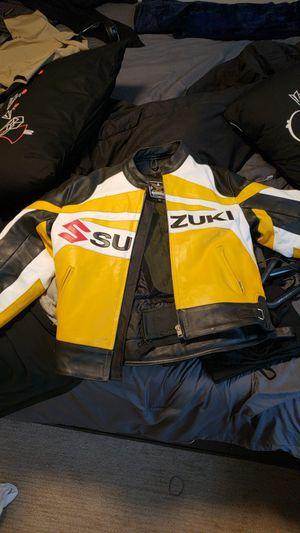 Yellow suzuki motorcycle jacket $200 for Sale in Philadelphia, PA