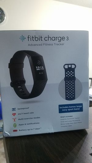Fitbit charge 3. Advanced fitness tracker for Sale in Anaheim, CA