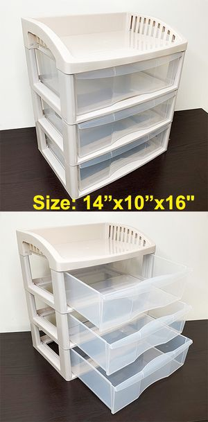 """New $10 each 3-Tier Plastic Desk Organizer Tray Drawer for Home Office Paper, 14x10x16"""" for Sale in South El Monte, CA"""