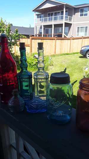 Bottle, antique jars for Sale in Tacoma, WA