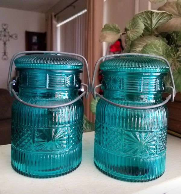 Avon Blue Glass Jars