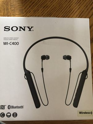 Sony - C400 Wireless Behind-Neck in Ear Headphone White Features & details Easy Bluetooth connectivity with NFC One-touch Up to 20 hours of battery for Sale in Dulzura, CA