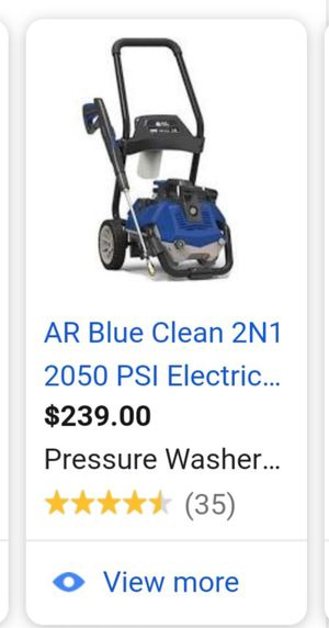 AR Blue Clean electric Pressure washer for Sale in Tracy, CA