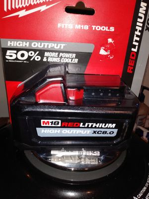 Milwaukee 8.0 ah battery brand new in the package for Sale in Winter Springs, FL