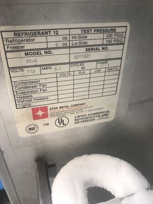 Freezer commercial free Refrigerant 12 for Sale in Rodeo, CA
