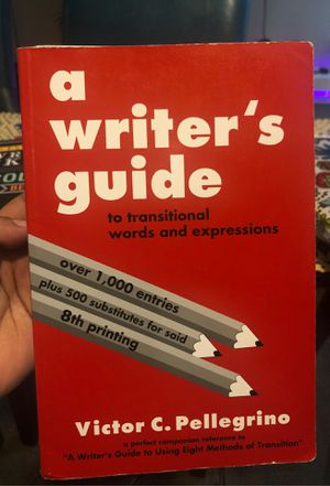 A writer's guide to transitional words and expressions for Sale in San Antonio, TX