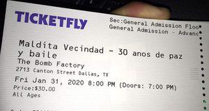 Tickets para Maldita Vecindad for Sale in Arlington, TX