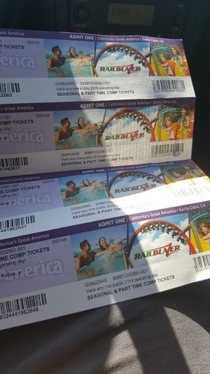 4 Great America tickets $100 for Sale in Ceres, CA