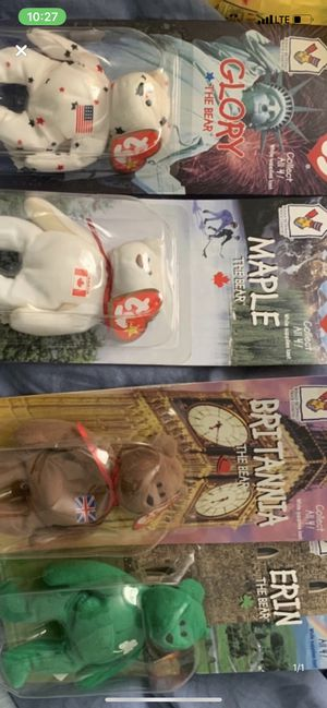 Beanie babies set of 4 for Sale in Perth Amboy, NJ