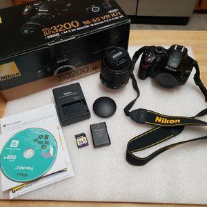 Nikon D3200 Digital DSLR Camera Like New for Sale in Elgin, SC