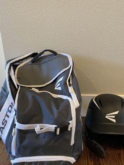 Easton Baseball Bat Backpack and Junior Easton Helmet for Sale in Mercer Island,  WA