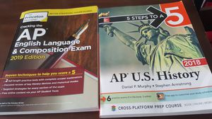 AP U.S. History (2018) and AP Language (2019) Review Books GOOD CONDITION for Sale in Tampa, FL