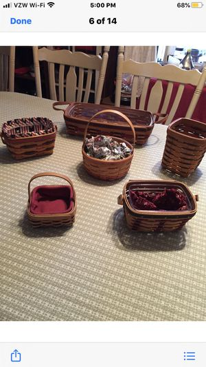 6 Longaberger Baskets for Sale in White Haven, PA