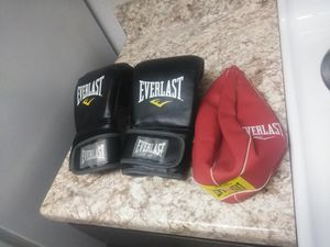 Boxing gloves an speed bag... Still new never used for Sale in Houston, TX