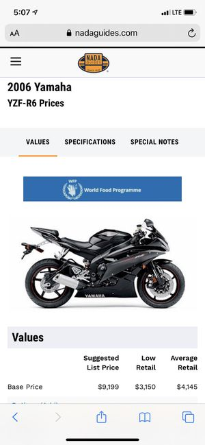 Yamaha R6 Raven Edition for Sale in Rockville, MD