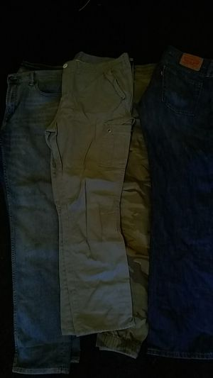 Jeans 32x33 joggers 32x33 grey Coat Calvin Klein black jacket M for Sale in Washington, DC