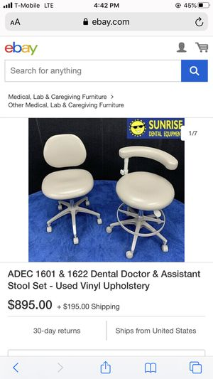 Dental assistant chairs for Sale in San Antonio, TX