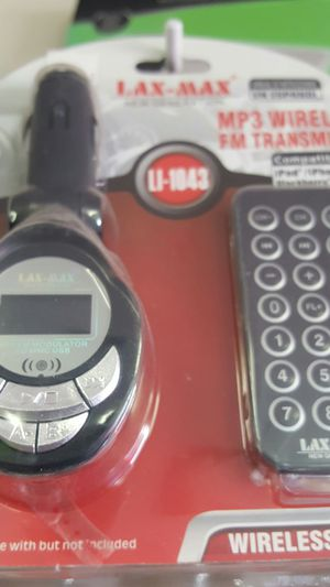 Fm transmitter mp3 wireless with wireless remote for Sale in Santee, CA