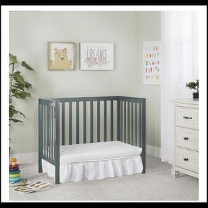 Dream On Me Edgewood 4-in-1 Convertible Mini Crib, Olive for Sale in Camden, NJ