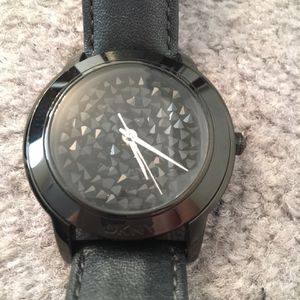 DKNY Black Leather Watch for Sale in East Windsor, NJ