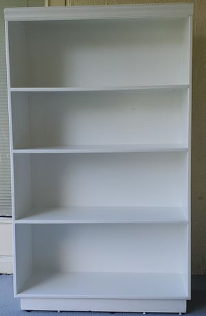 Custom built White Bookcase or Storage Shelf for Sale in Auburndale, FL