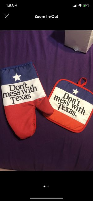 Texas Oven Mitt Set for Sale in Copperas Cove, TX