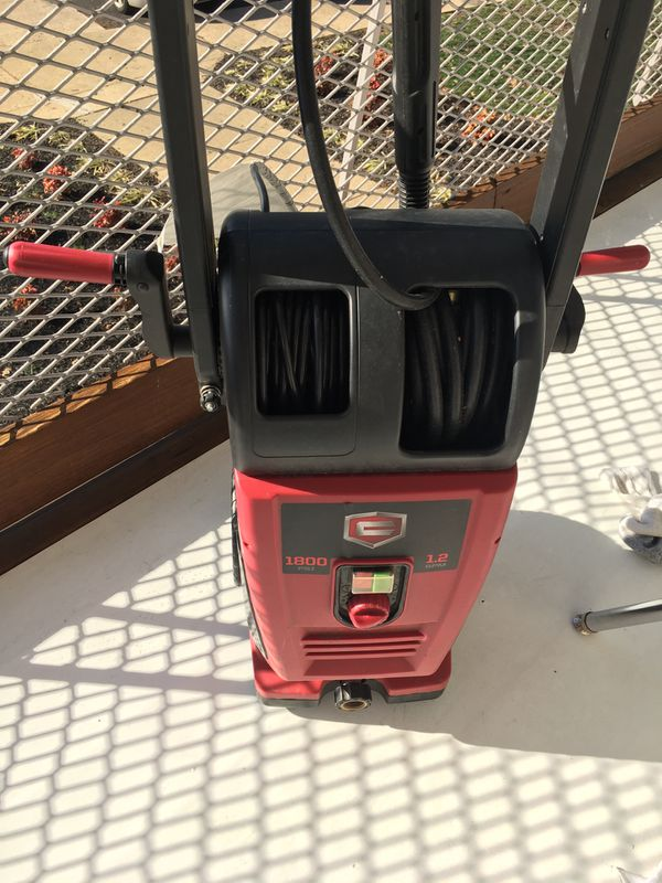 Croftsman 1800 psi 1.5gpm pressure washer
