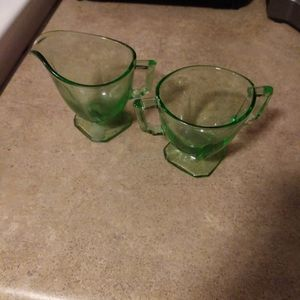 Green Glass Serving Dishes for Sale in Albion, IA