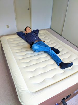 Amazon $99.99 / Brand new Air Mattress / Air Bed / Queen Size / Air Pump is included / good for camping, guest bed, etc for Sale in Torrance, CA