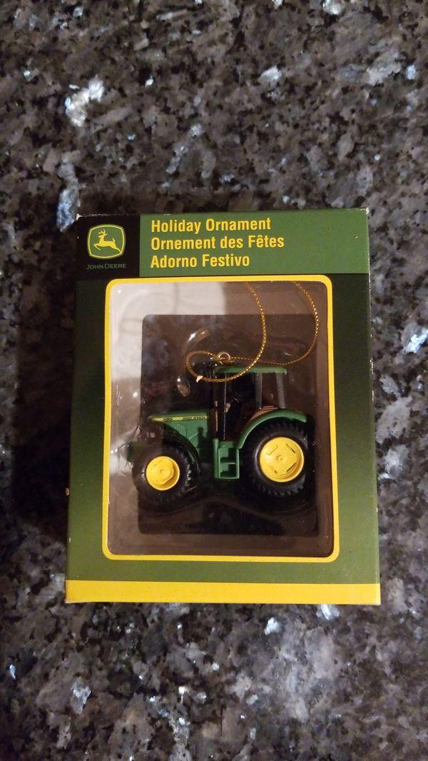Three John Deere tractor ornaments New