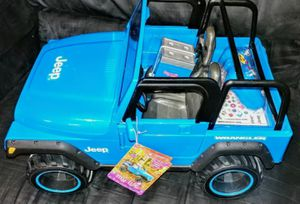 Discontinued , WORKING NEW My life as 18in doll Blue RC jeep Wrangler for Sale in Arlington, TX