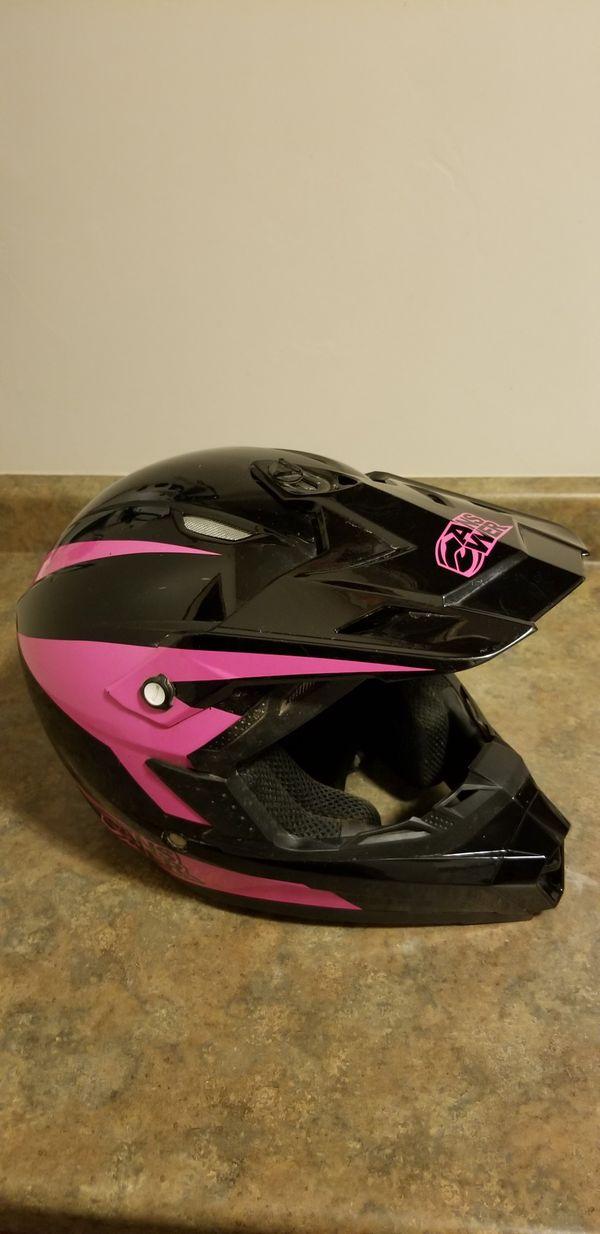 Answer Racing Open Face Medium Helmet DOT ATV UTV Motorcycle Bike Snowmobile Pink/Black color.
