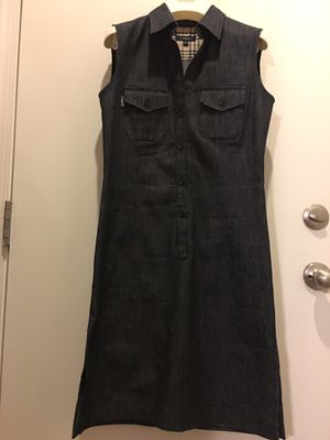 Burberry London denim button up sleeveless dress (made in England) for Sale in Las Vegas, NV