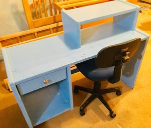 Solid wood desk and chair for Sale in Fairfax, VA